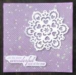 Kartka na Święta Bożego Narodzenia - fioletowa